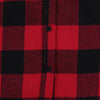 Women's Classic Flannel Shirt red black button