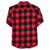 Women's Classic Flannel Shirt Red Black Back