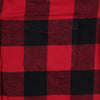 Women's Classic Flannel Shirt red black pocket