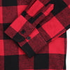 Women's Classic Flannel Shirt red black cuff