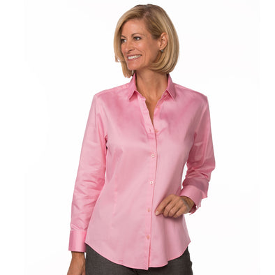 Women's Classic Long Sleeve Work Shirt light pink