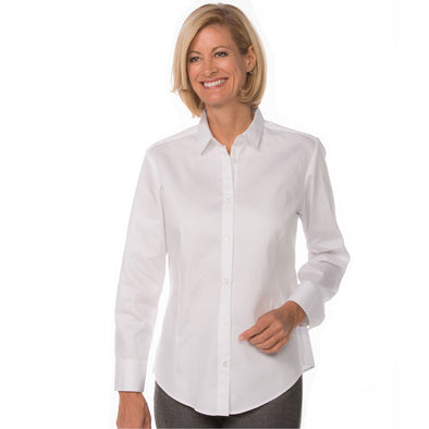 Women's Classic Long Sleeve Work Shirt white