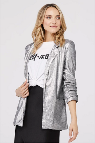 David Lerner Hailey Oversized Sequin Blazer