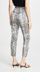 Belted Snake Print Pant