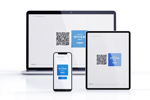 Zapper QR Codes on Various Devices