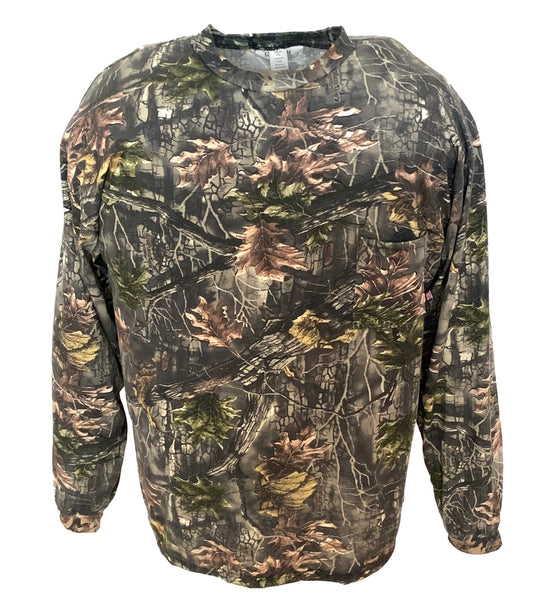 Big & Tall Camo Long Sleeve Hunting T-Shirt