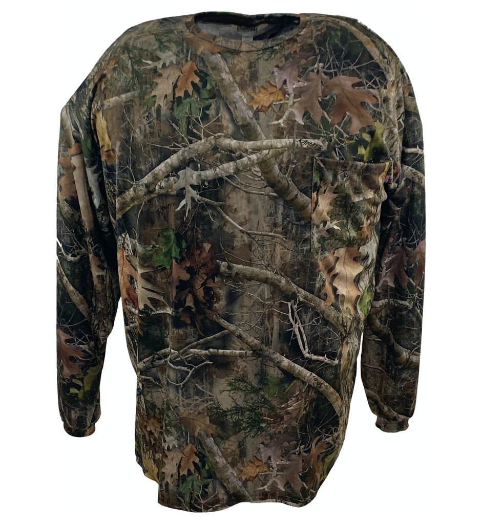 Big & Tall Kanati Camo Long Sleeve Hunting T-Shirt