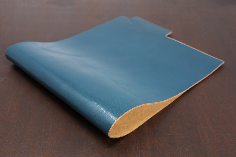 Blue Veg Tan Leather