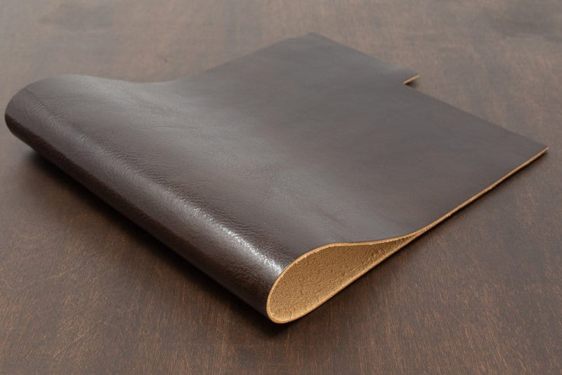 Chocolate Colored Veg Tan Leather