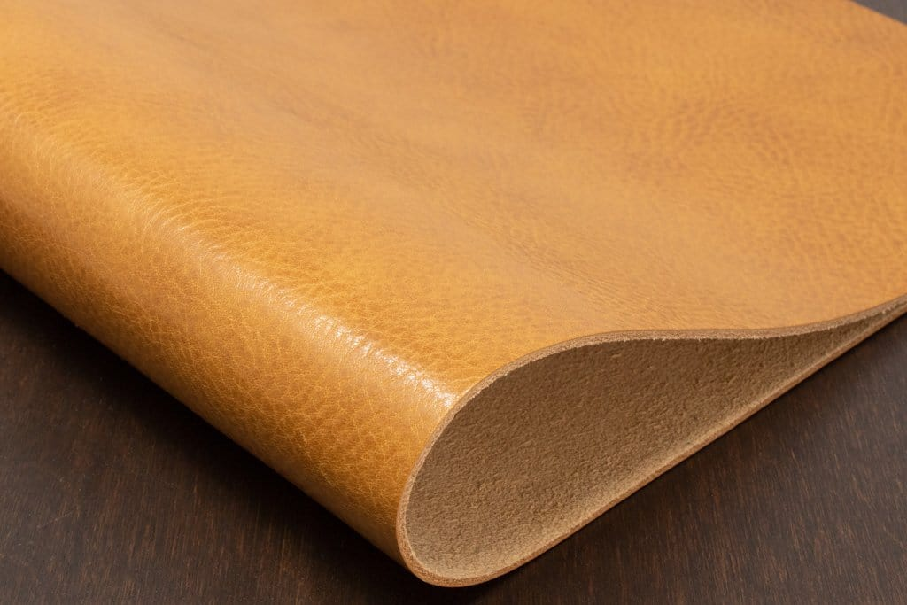 Honey colored veg tan leather