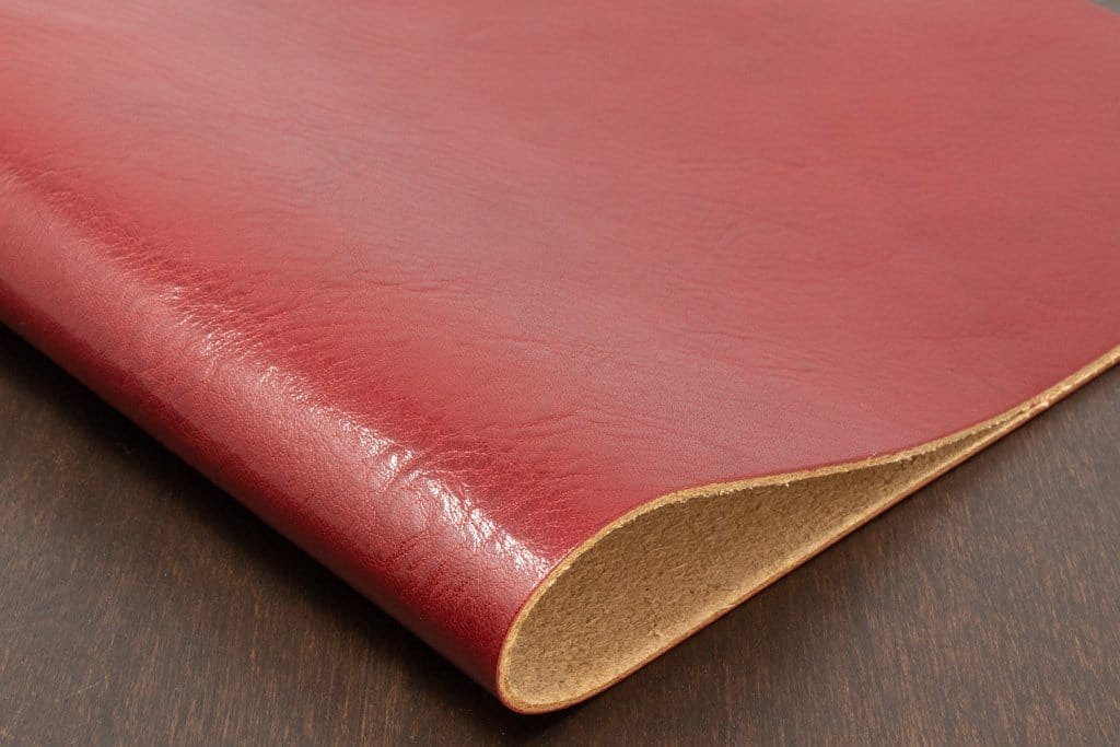 Red Veg Tan Leather