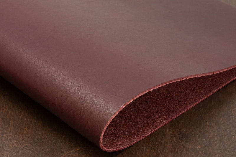 Burgundy Veg Tan Leather