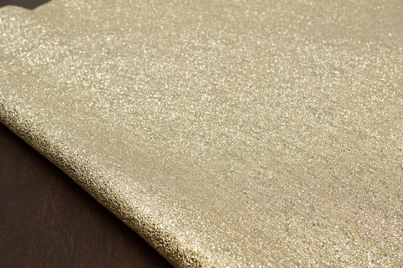 Crinkle Metallic Lamb, Light Gold (Italy)