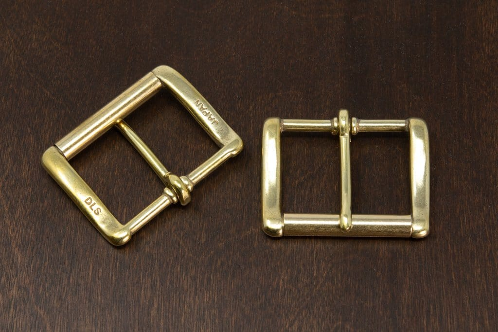 "Japanese Brass - DLS Custom 1.5"" Heel Bar Roller Buckle"