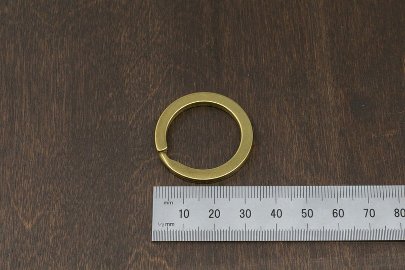 Japanese Brass Flat Split Key Ring