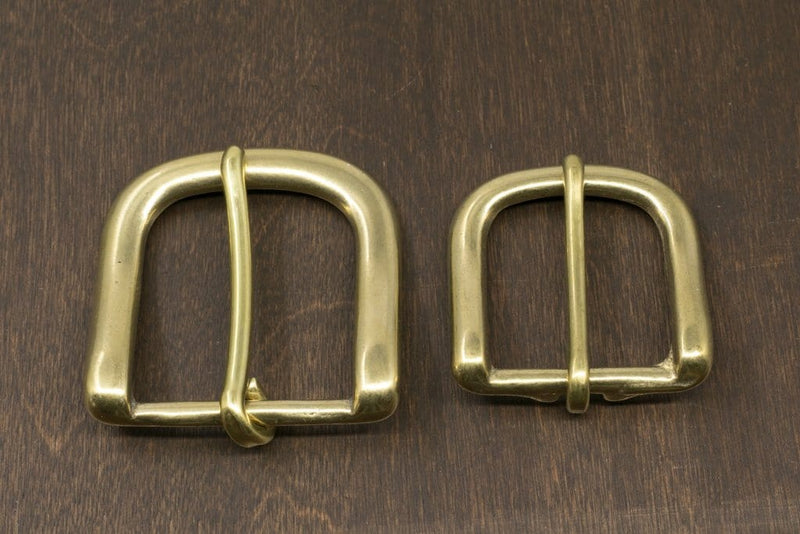 Japanese Brass Heel Bar Buckle