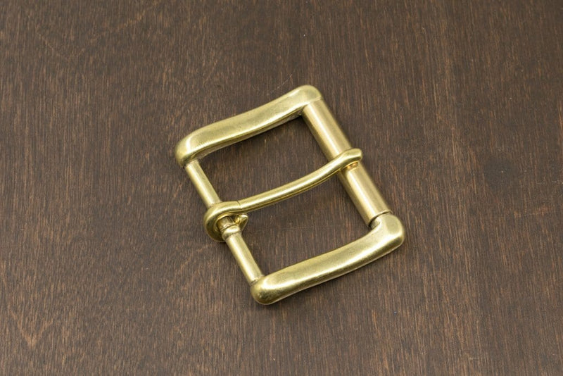 Japanese Brass Heel Bar Roller Buckle