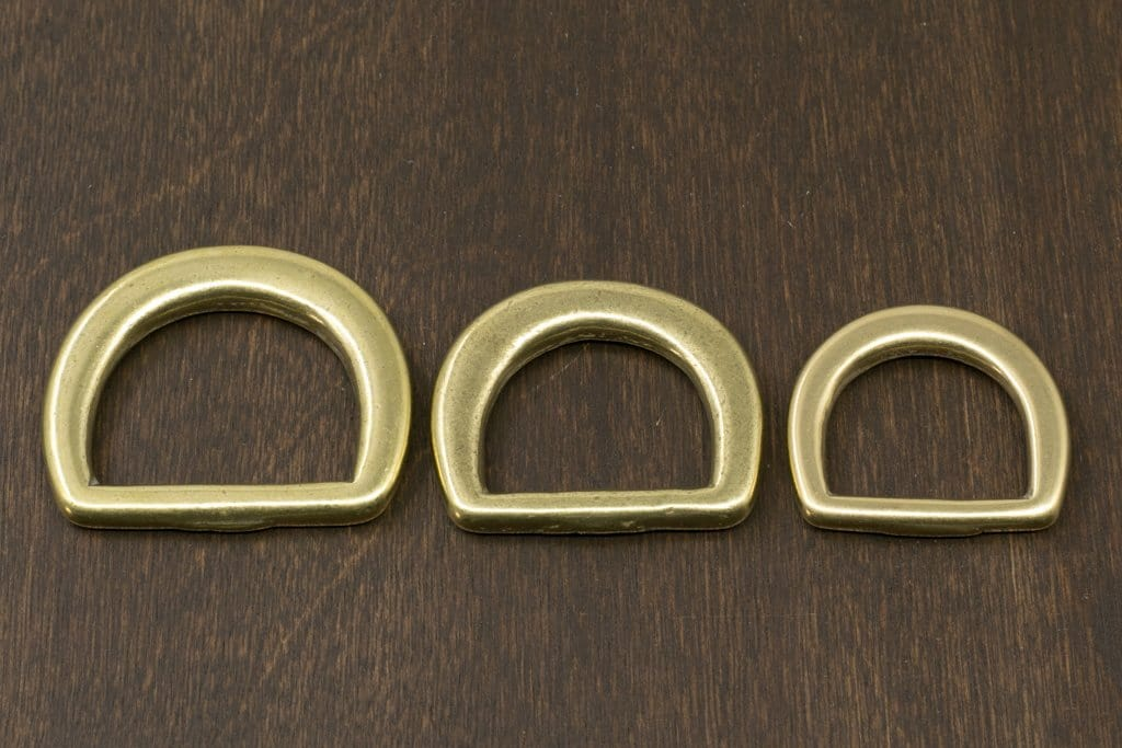 Japanese Brass D-Ring (Wide)