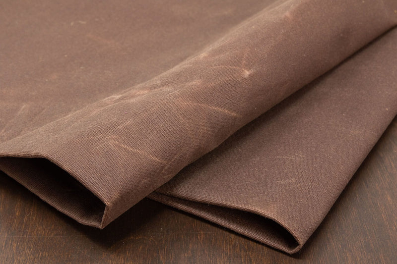 Waxed Canvas Cotton Duck, Brown - 10 oz