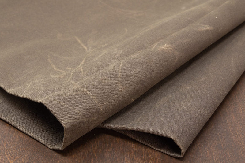 Waxed Canvas Cotton Duck, Dark Olive - 10 oz