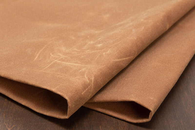 Waxed Canvas Cotton Duck, Saddle Tan - 10 oz