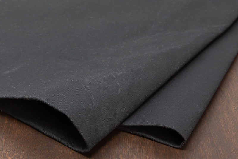 Waxed Canvas Cotton Duck, Black - 10 oz