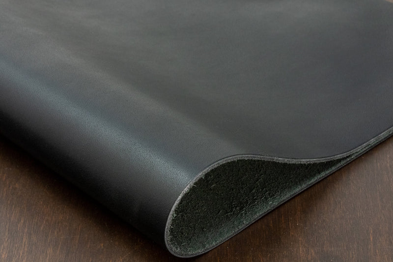 Horween Glacier, Black (Full Sides Available)