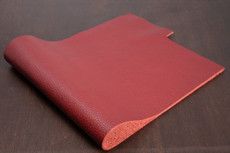 Italian Pebble Grain Calf, Red