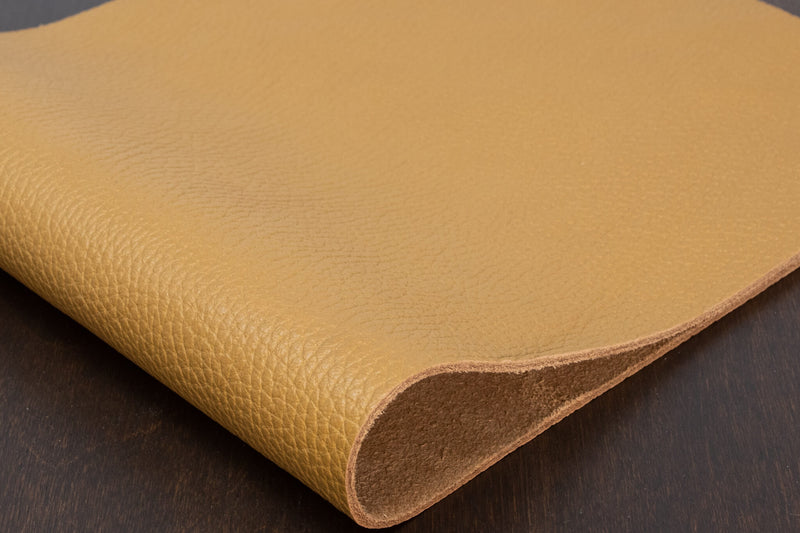Italian Pebble Grain Cowhide, Tan