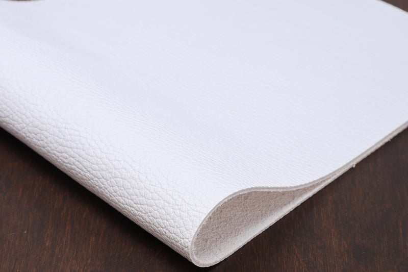 Italian Pebble Grain Cowhide, White