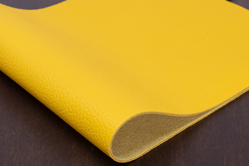 Italian Pebble Grain Calf, Yellow