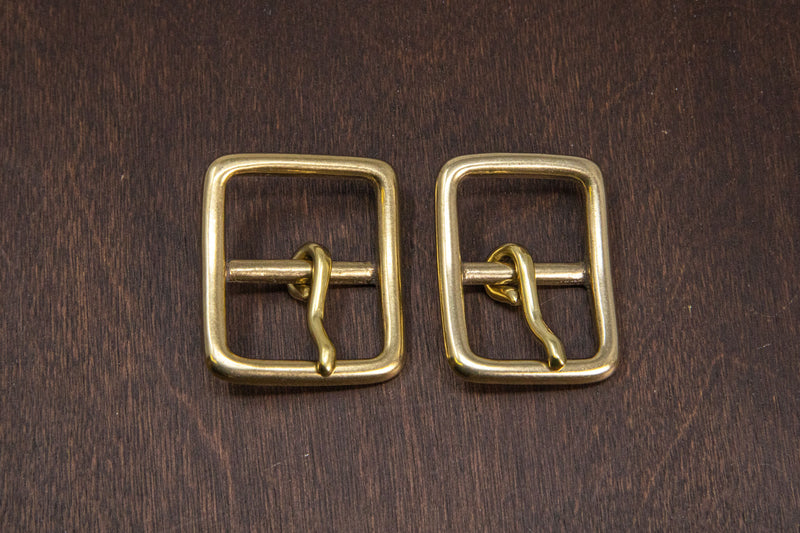 Japanese Brass Center Bar Buckle