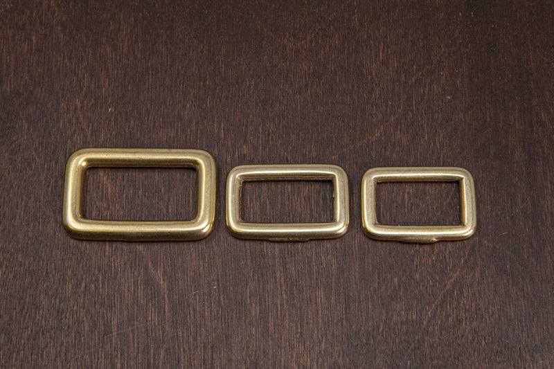 Japanese Brass Rectangle Single Loop Slider