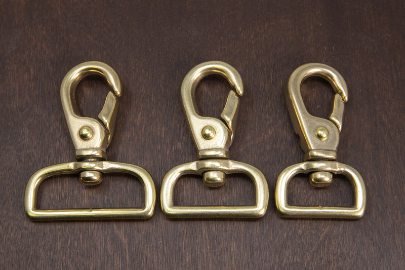 Japanese Brass Swivel Lever Snap