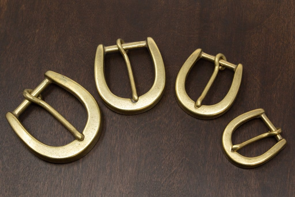 Japanese Brass Heel Bar Buckle (Chunky)