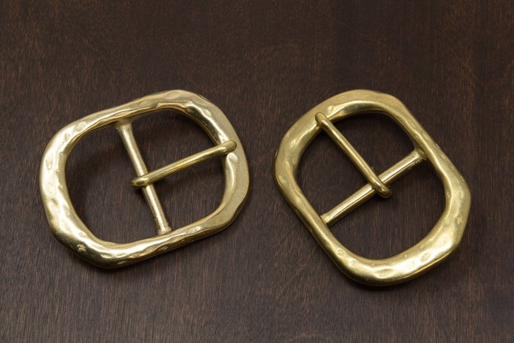 Japanese Brass - Rustic Center Bar Buckle