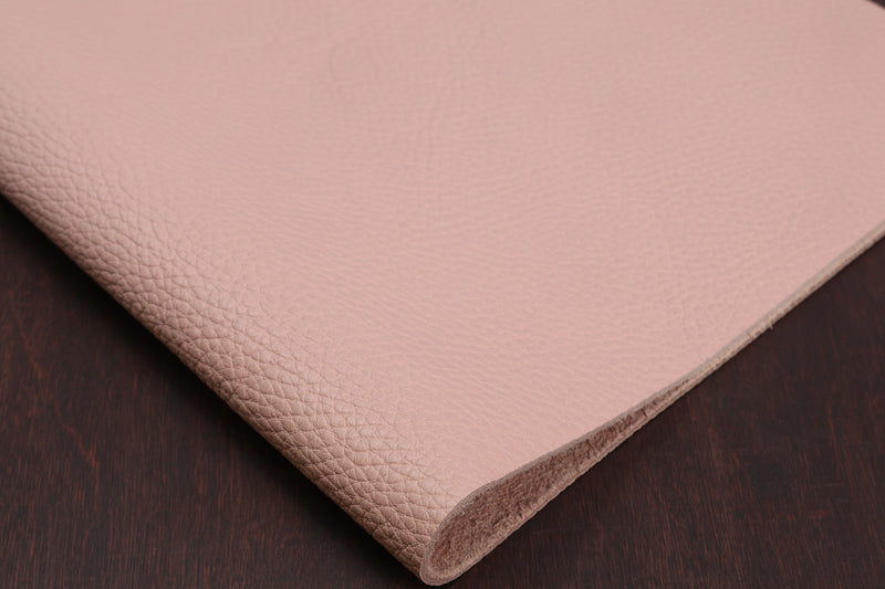 Italian Pebble Grain Calf, Light Pink