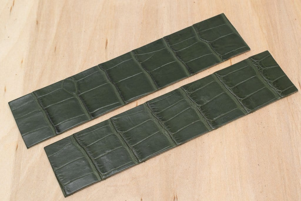 Alligator Watch Strap Panels, Olive (Matte Finish)