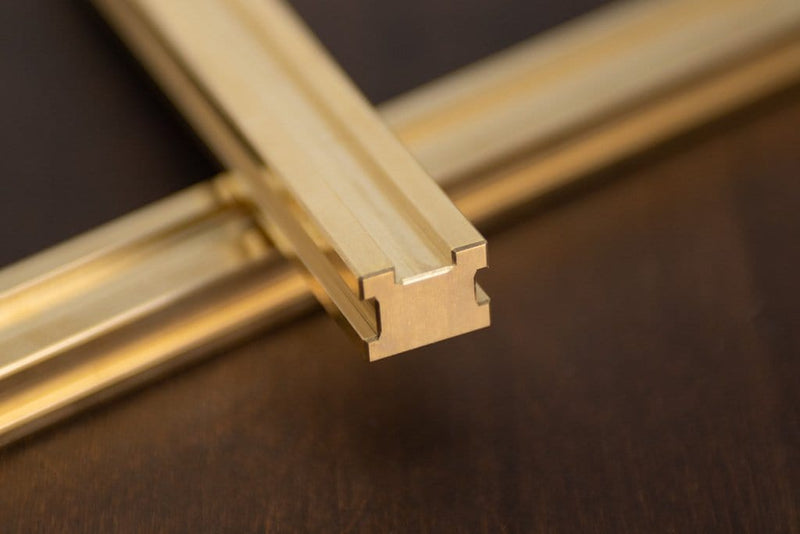 DLS Three-Sided Brass Zipper Guide