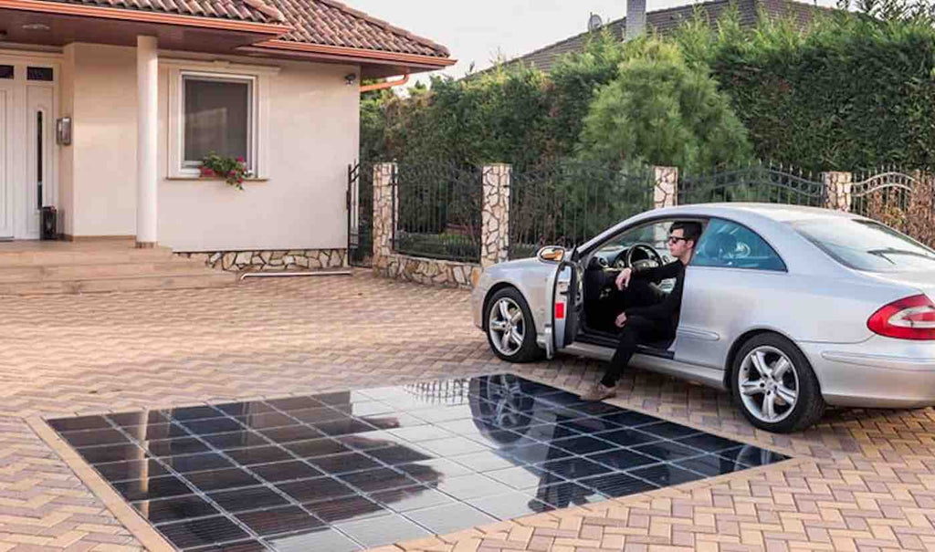 These New Solar-Pavement Driveways Made of Plastic Bottles Can Power the Average Household