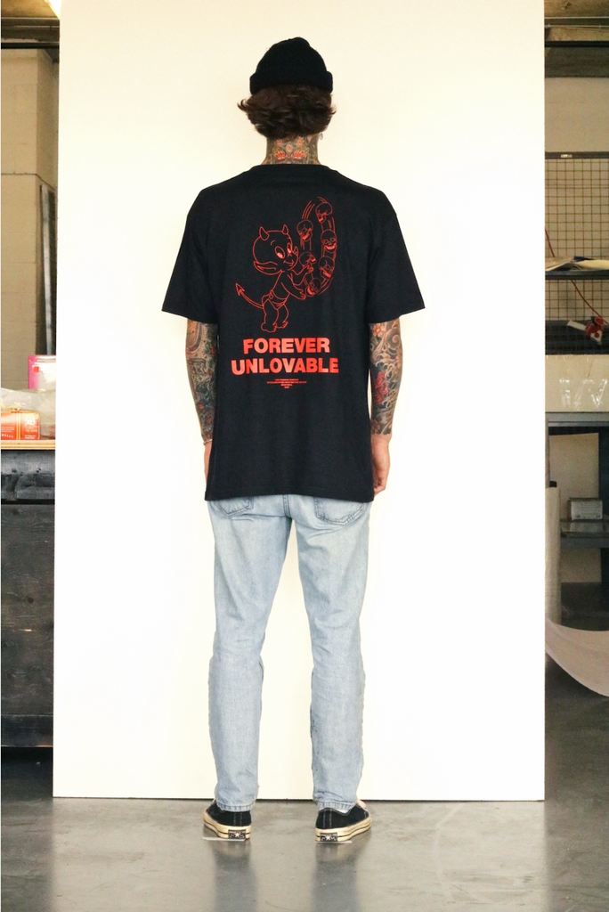 Unlovable Devil Tee - Black