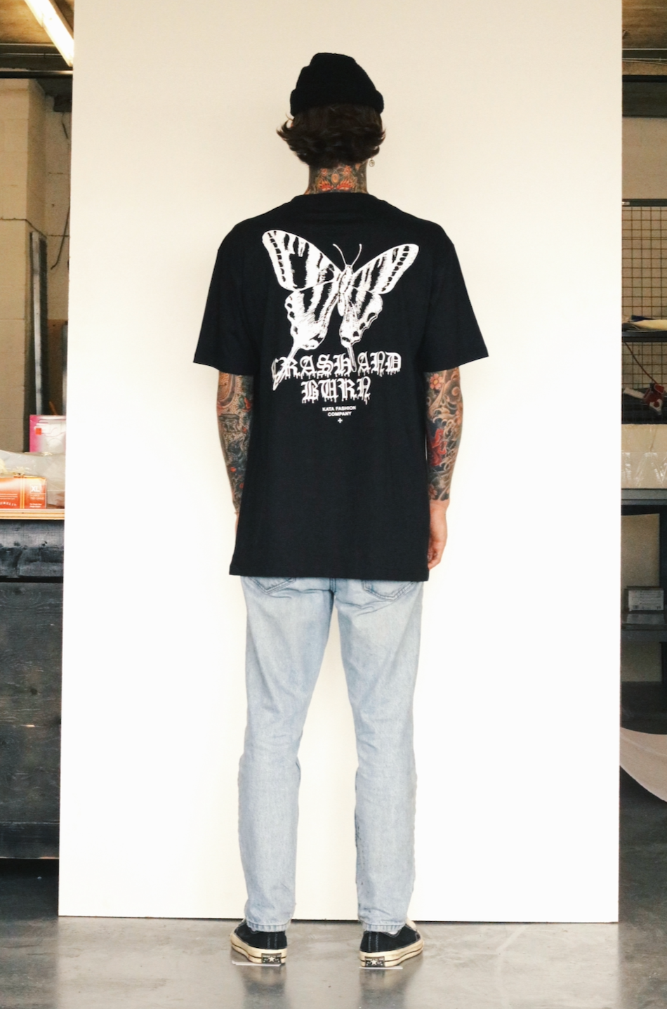 Crash and Burn Tee - Black