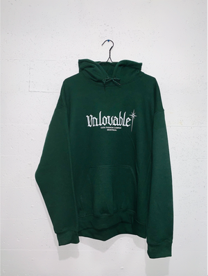 Unlovable Hoodie - Forest Green/White