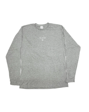 Embroidered Lightweight Long Sleeve - Grey