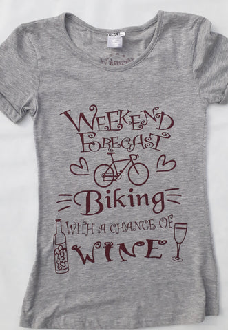 Weekends forecast biking and wine
