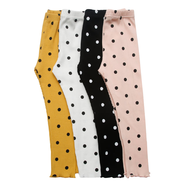 Leggings with polka dots