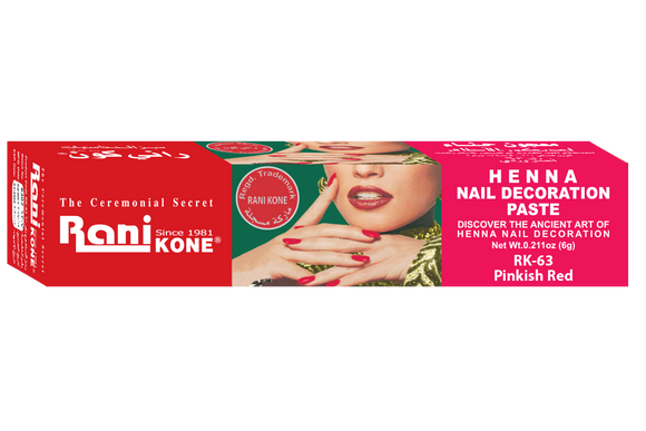 Rani Kone Henna Nail Decoration Paste Pinkish Red RK-63 6gram [6pcs]