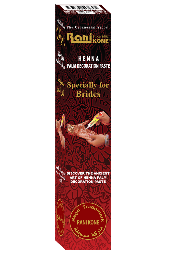 Rani Kone Specially for Brides Henna Palm Decoration Paste RK-60 6gram [6pcs]