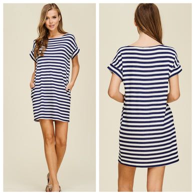 Laguna Striped Shirt Dress