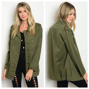 *SALE* Olive Studded Utility Jacket